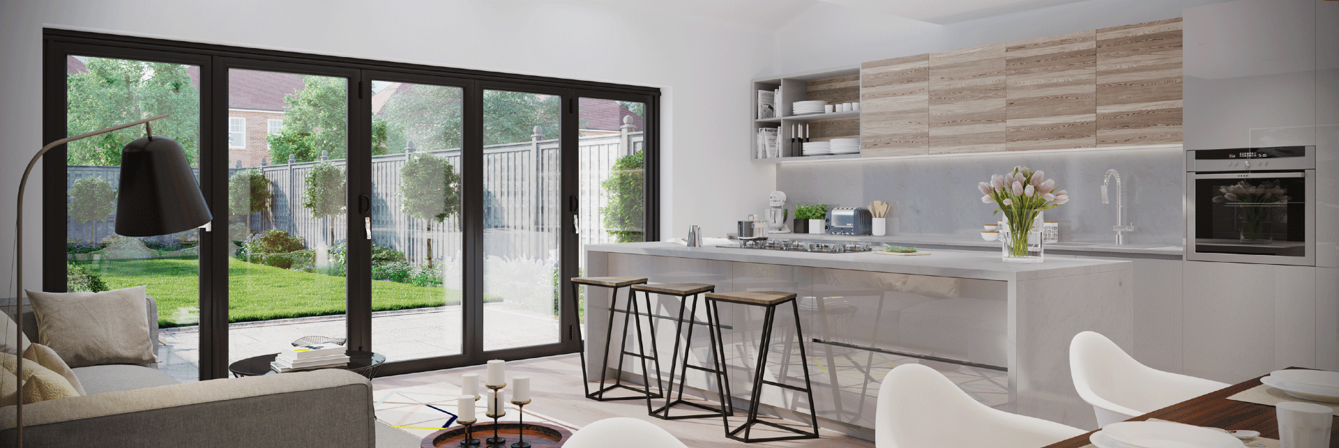 Beautiful Set Of Bi Folding Doors