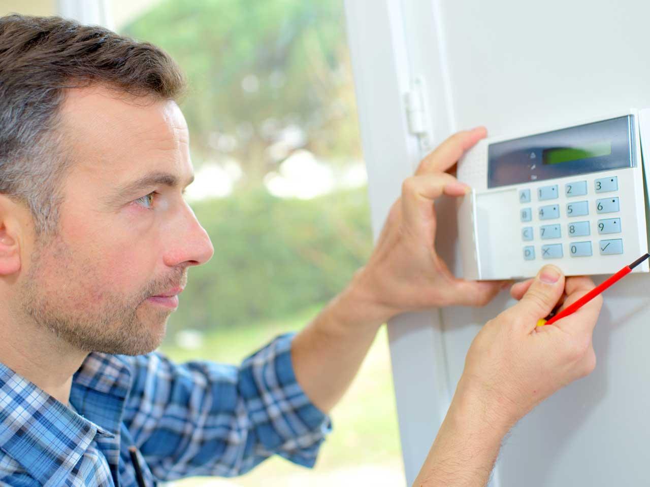 Image result for home alarm installation